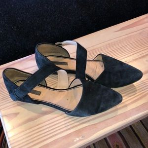 H&M Suede Pointed Flats